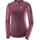 """Salomon W's Agile LS Tee Fig/Beet Red"""